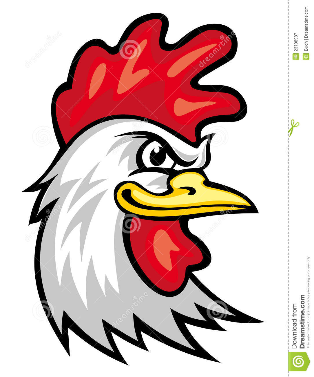 rooster mascot stock vector illustration of crest