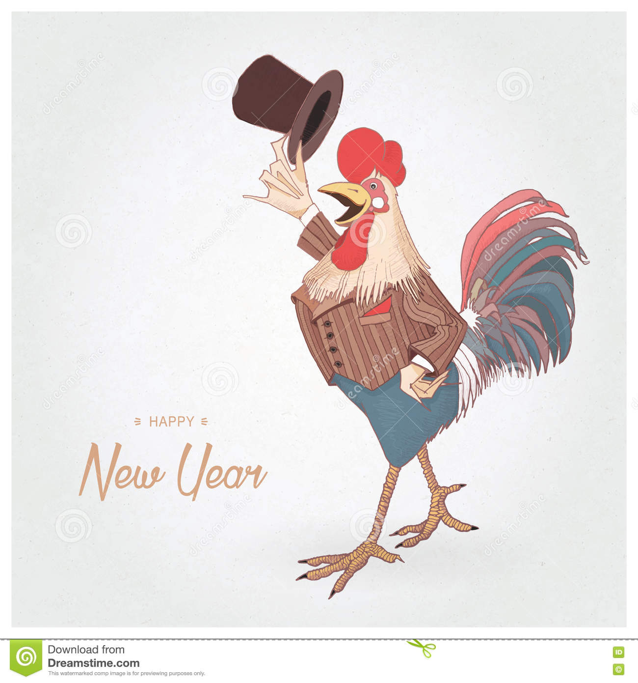chinese new year of the rooster happy new year greeting card new year background sample textchristmas tree toy decoration white background