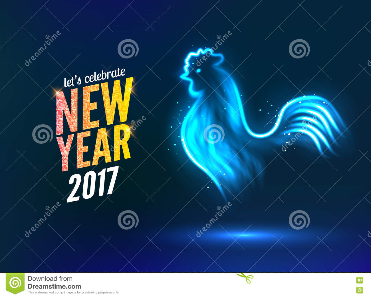 New Year Calendar Design : The rooster new year greeting card design template