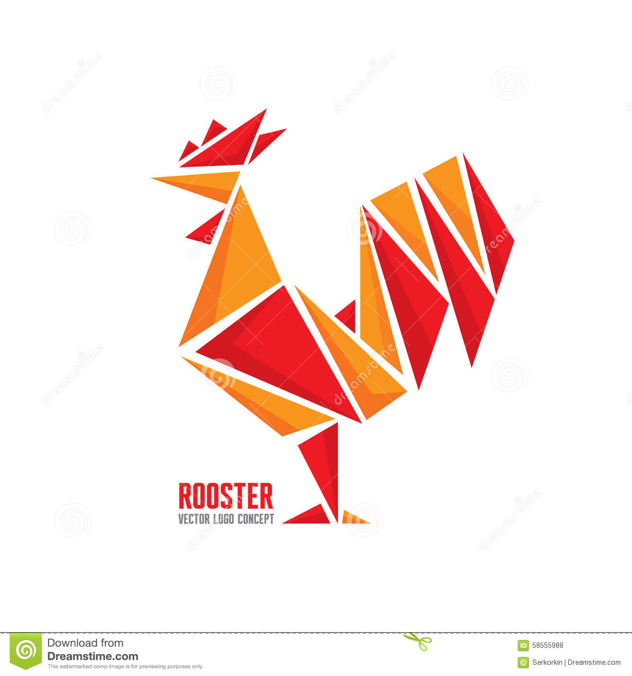 Rooster vector logo concept bird abstract geometric illustration logo vector logo template - Cock designing ...