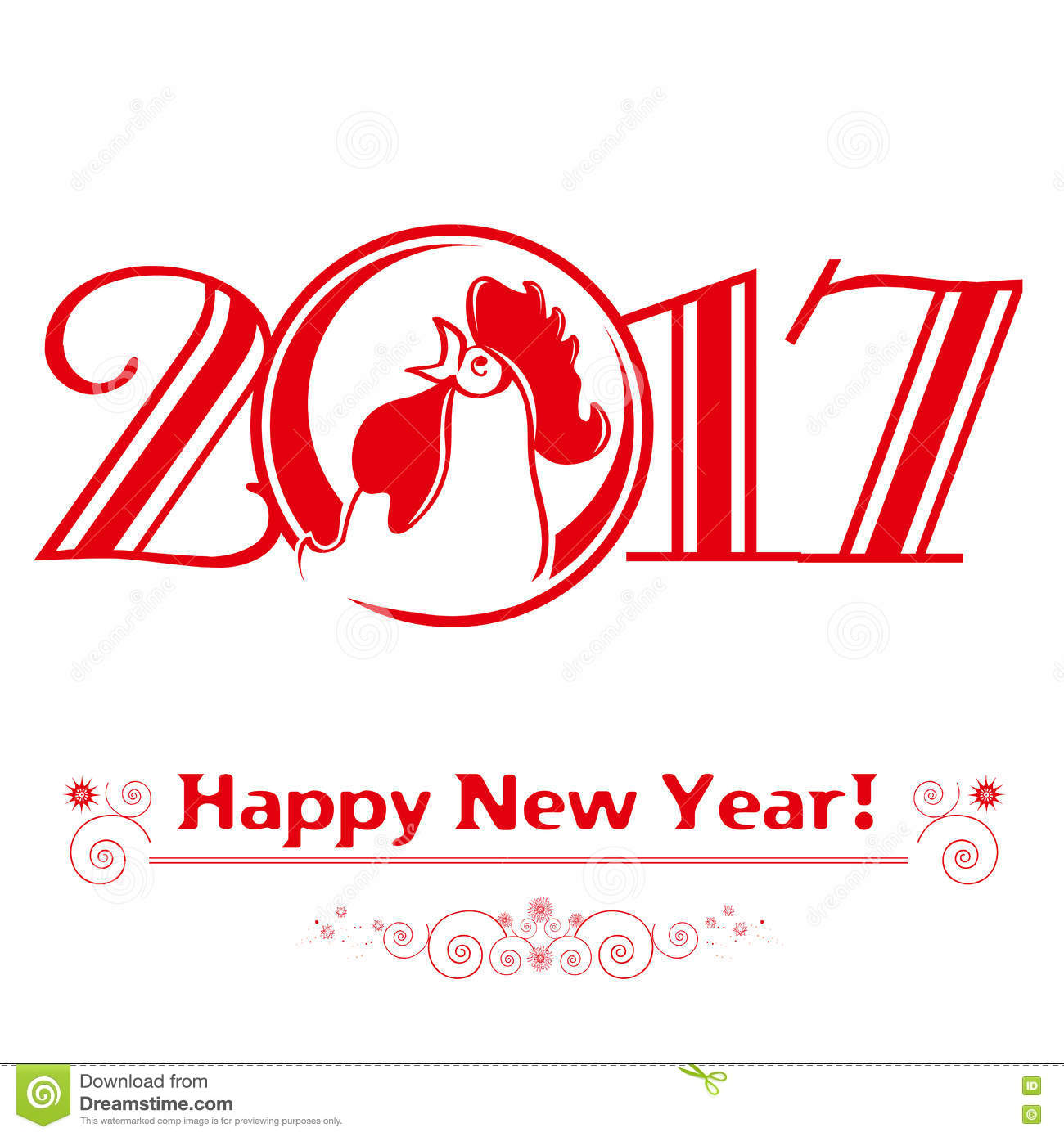 ... new-year-red-cock-symbol-merry-christmas-happy-new-year-greeting