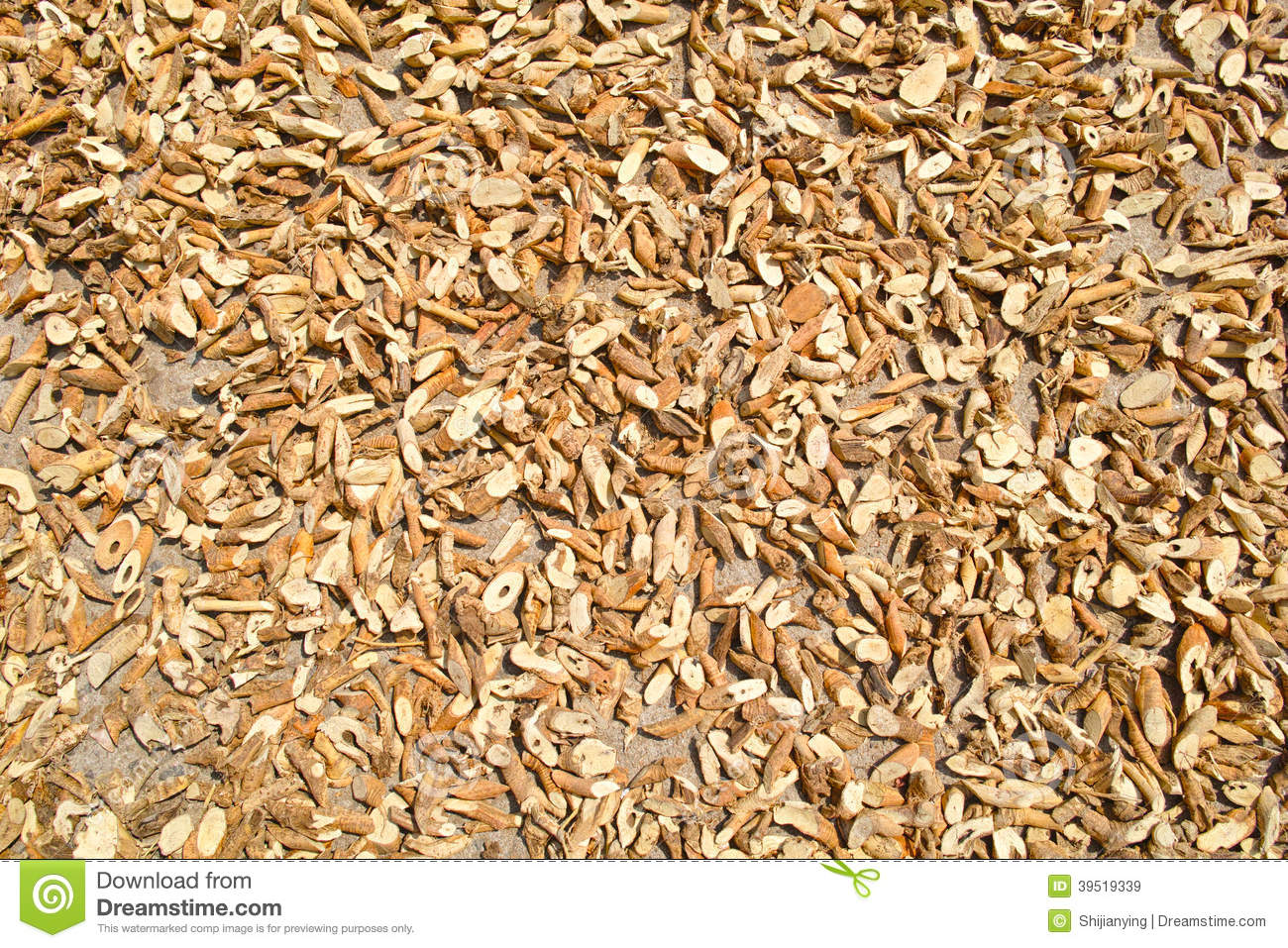 Name Root: Root Pieces Of Moghania Stock Photo