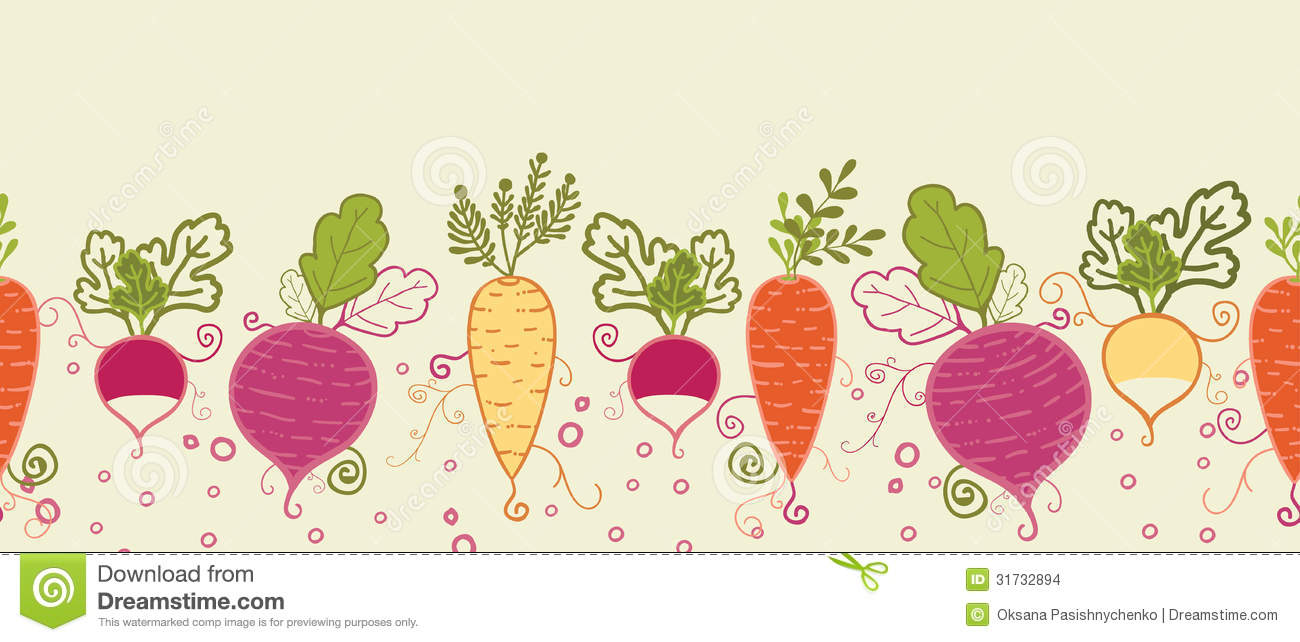 Root Vegetables Horizontal Seamless Pattern Stock Images ...