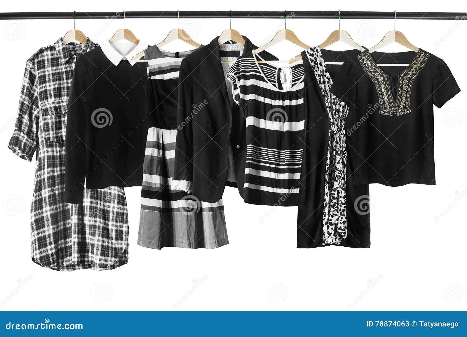2f11a400f5 Ropa blanco y negro imagen de archivo. Imagen de fashionable - 78874063