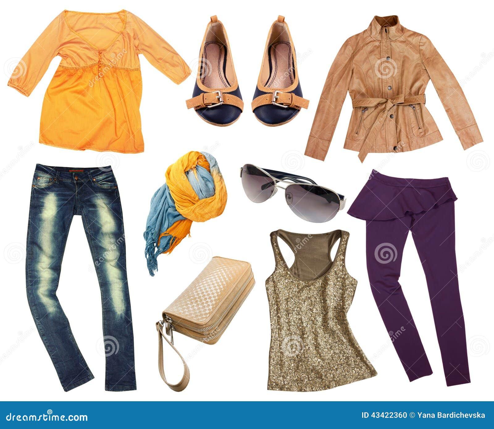 Ropa del oto o de la moda aislada foto de archivo imagen de manera vogue 43422360 - La moda de otono ...