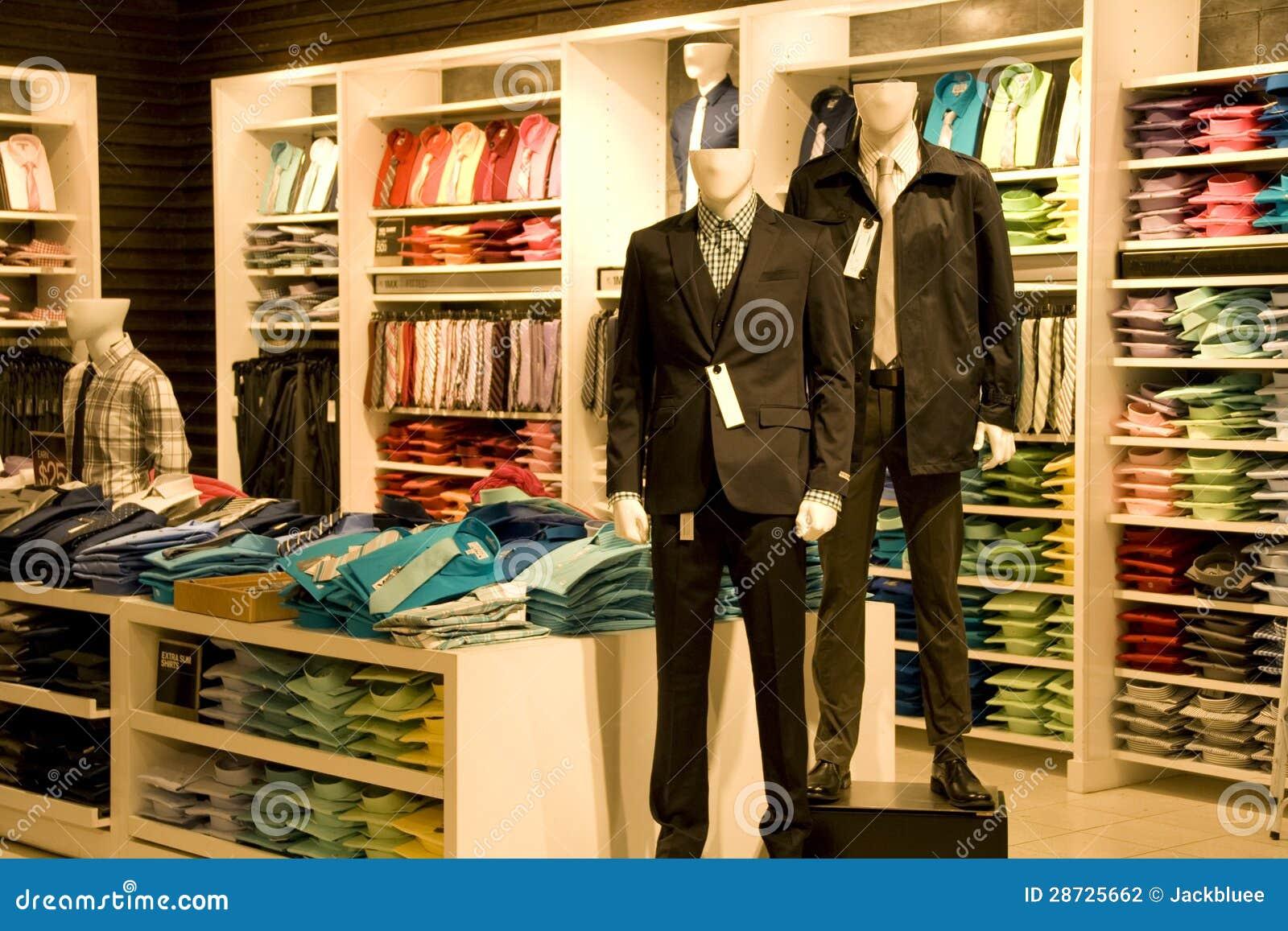 2932f3247ae7d Ropa Elegante Del Hombre En Tienda Foto de archivo - Imagen de ...