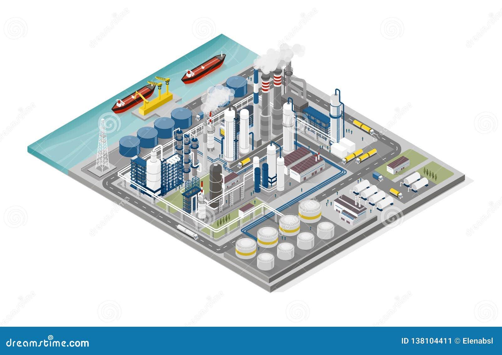 Ropa i gaz przemysł i proces produkcji infographic