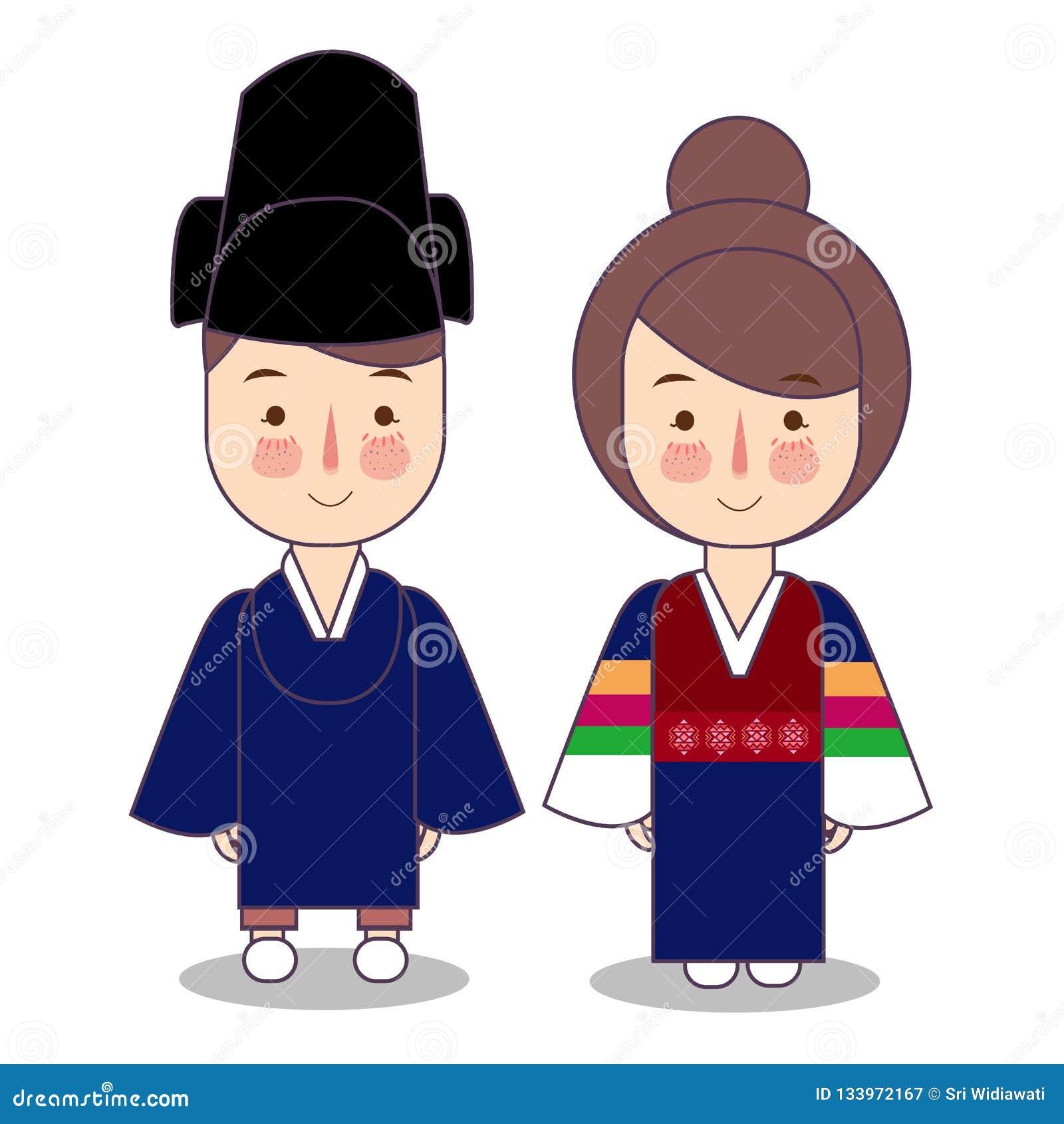 Ropa Nacional Tradicional Ceremonial Del Rey Y De La Reina De Corea