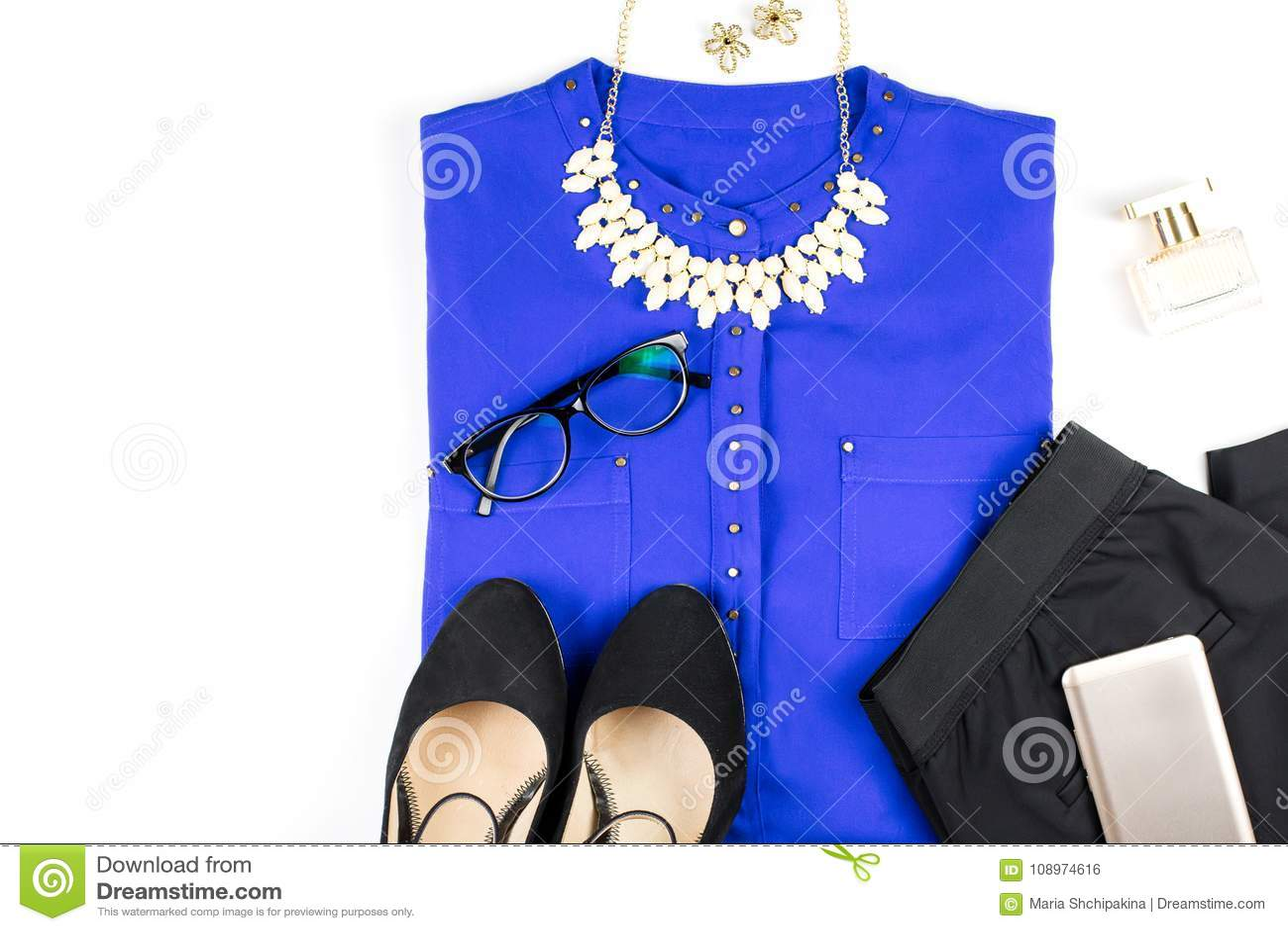 Ropa Y Accesorios Elegantes Femeninos Camisa Púrpura