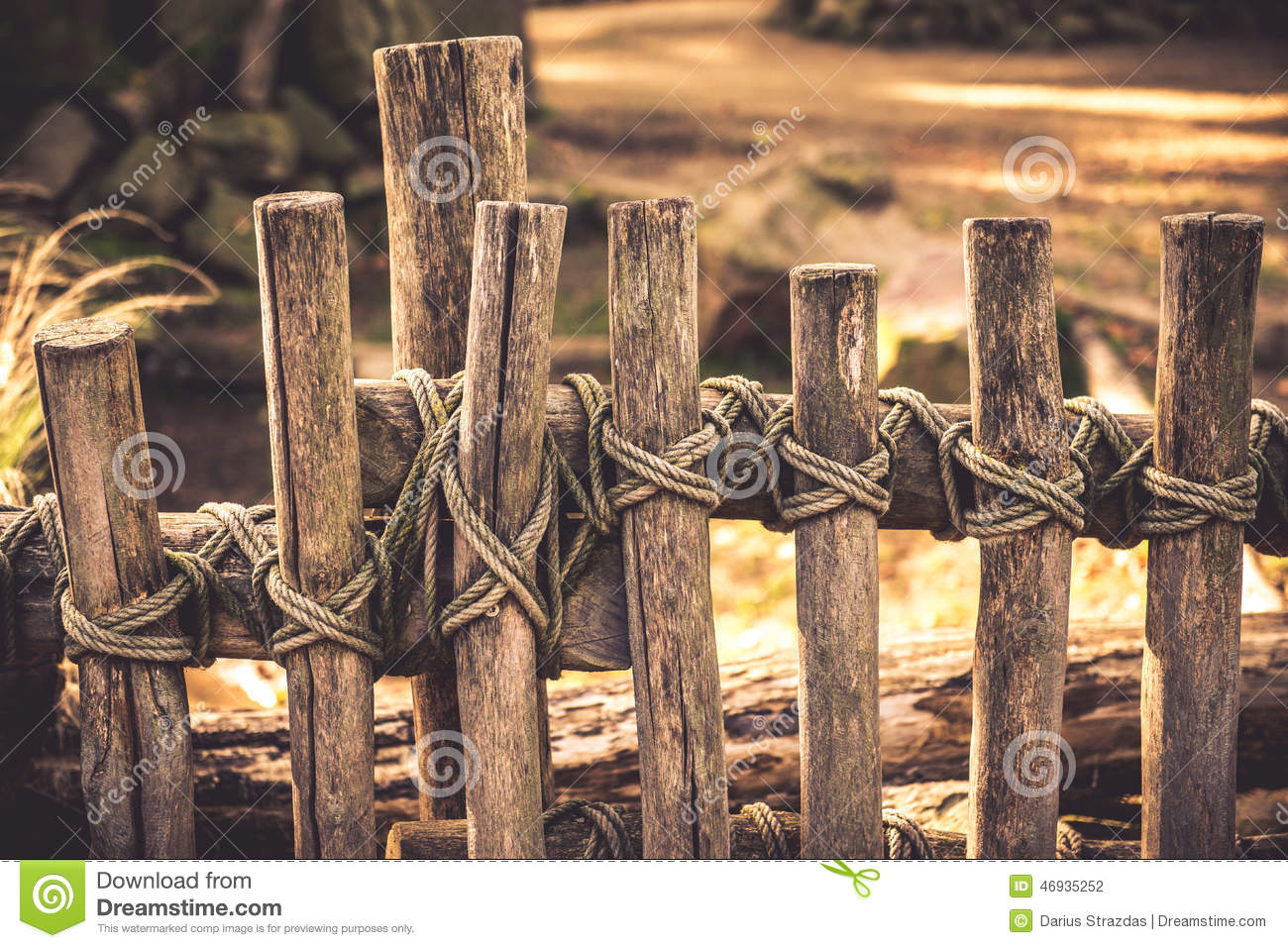 Rope tied around a wooden fence pole shallow dof stock photos more similar stock images of rope tied around a wooden fence pole shallow dof baanklon Image collections