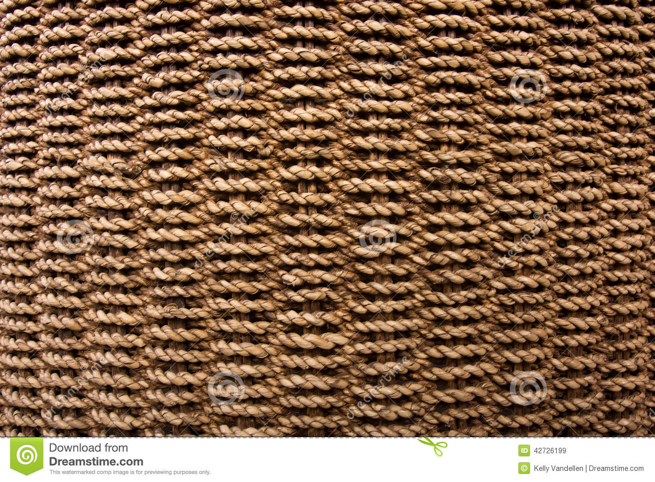 How To Weave A Basket With Rope : Rope basket weave texture stock photo image
