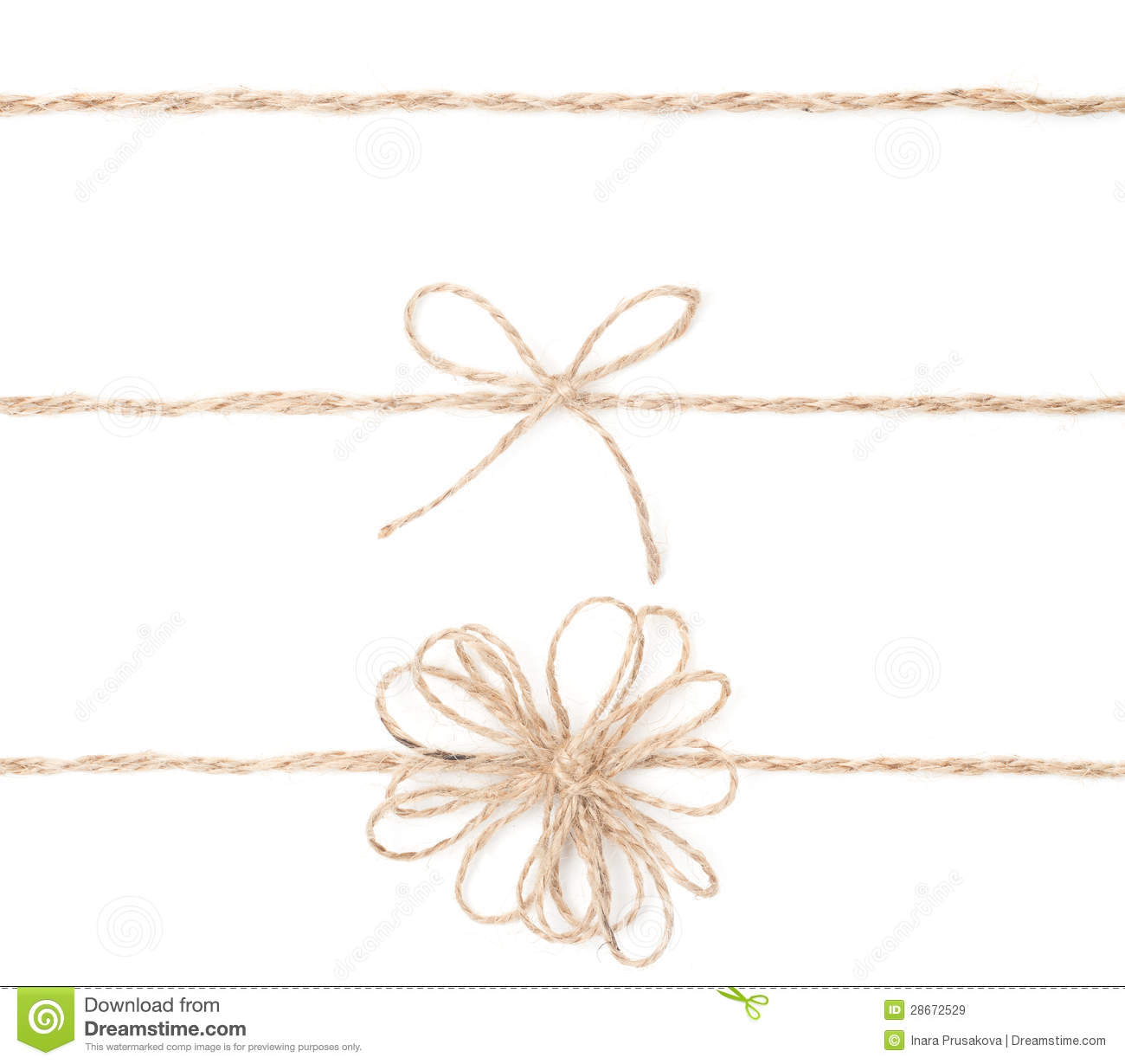 Rope Bow Jute Wrapping Collection For Present Close Up