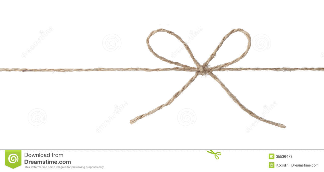 Rope With Bow Knot Stock Photos - Image: 35536473