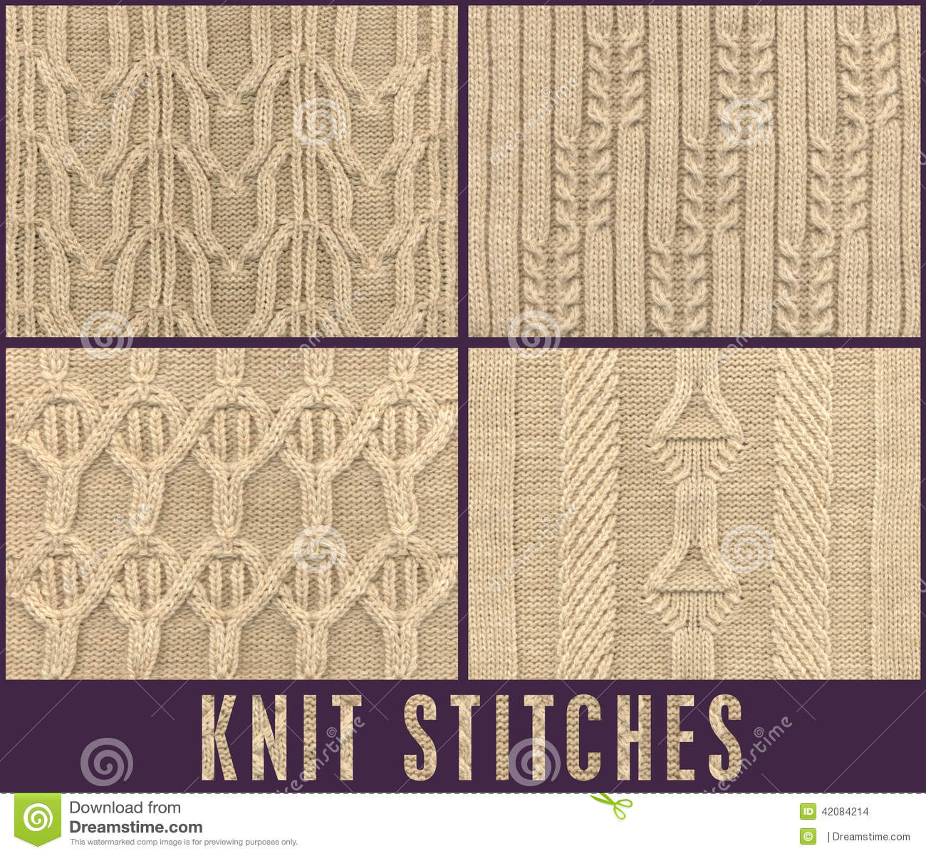 ROPE CABLE KNIT STICH FOR KNITWEAR Stock Photo - Image: 42084214