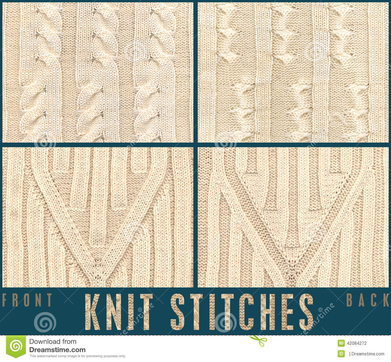 rope cable knit stich for knitwear stock photo image of celtic aran 42084272. Black Bedroom Furniture Sets. Home Design Ideas