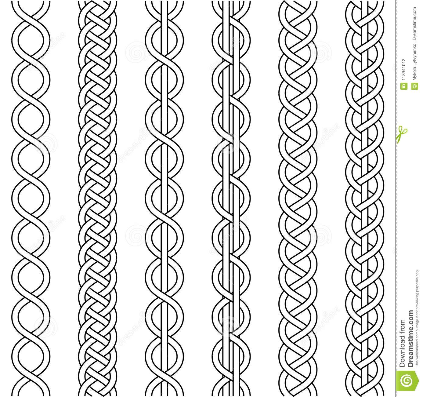 Rope Cable Weaving, Knot Twisted Braid, Macrame Crochet Weaving ...