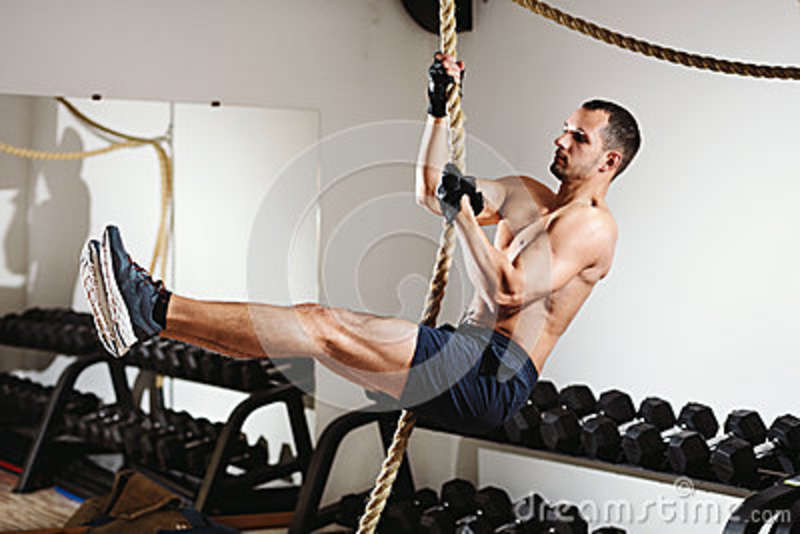 rope climbing workout stock image image of muscle lift 86550517