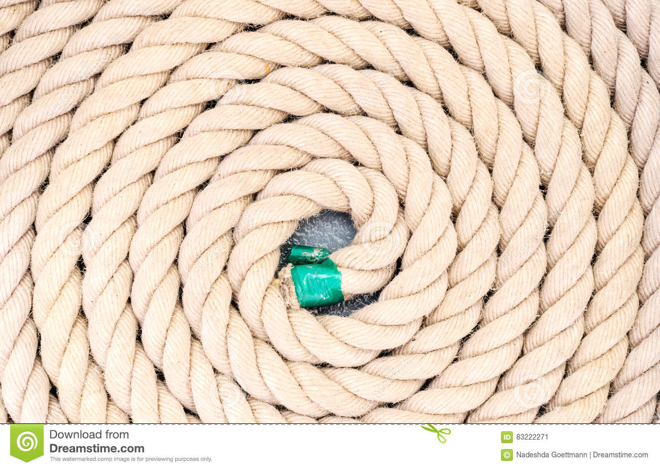 Rope coiled up in circles