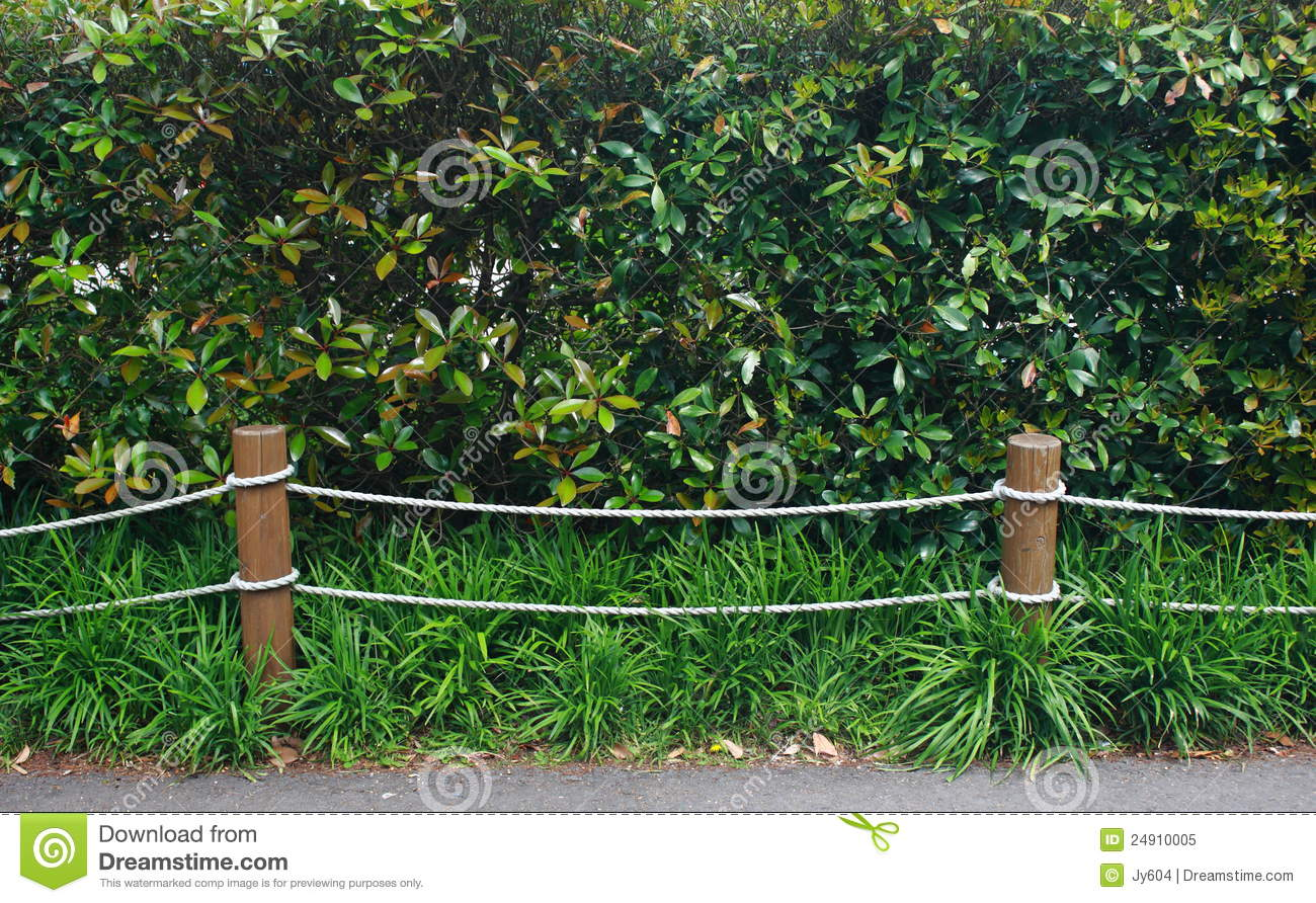 Rope Fence In Garden Royalty Free Stock Photo - Image: 24910005