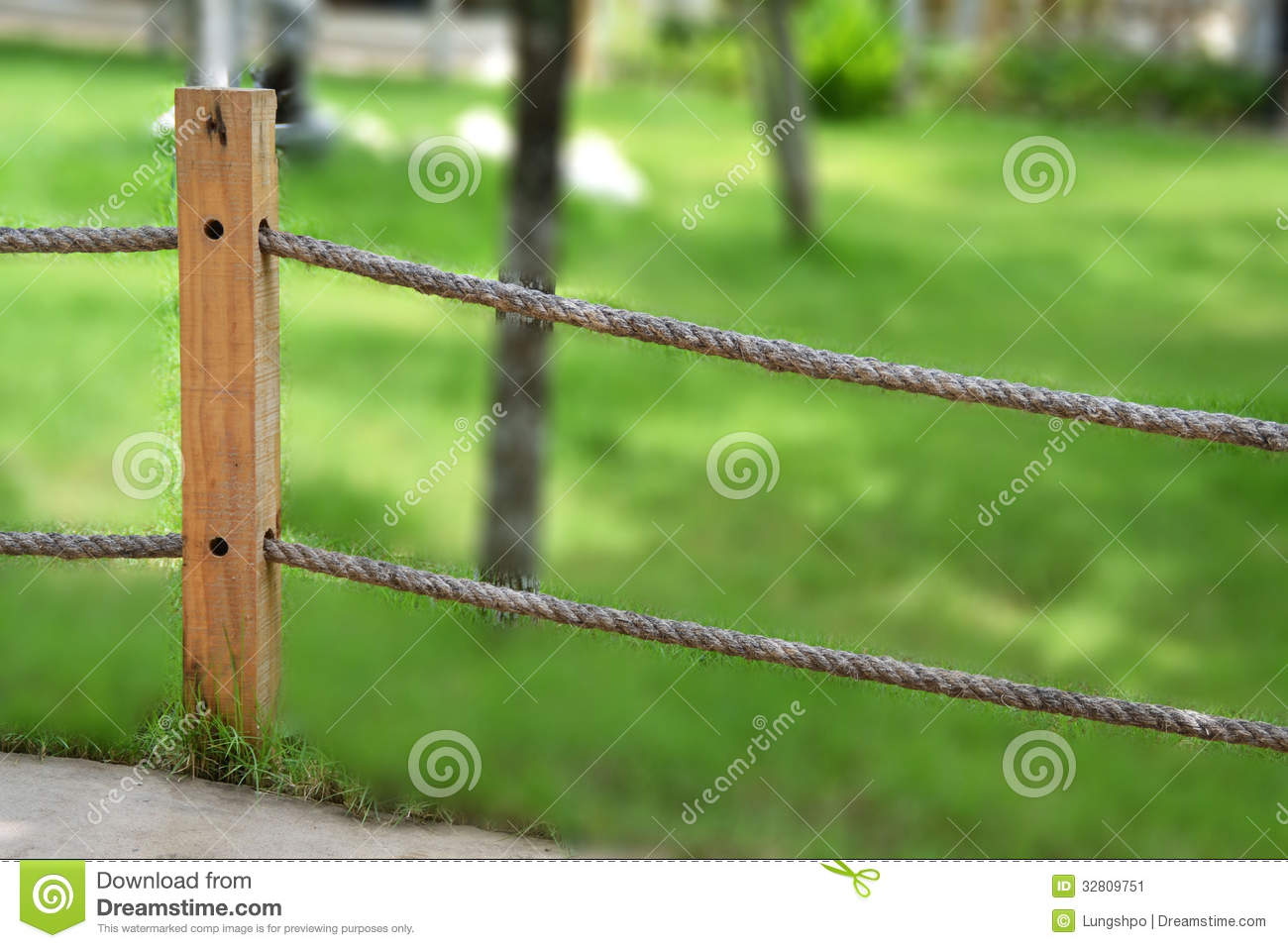 Rope fence in garden royalty free stock photo   image: 24910005