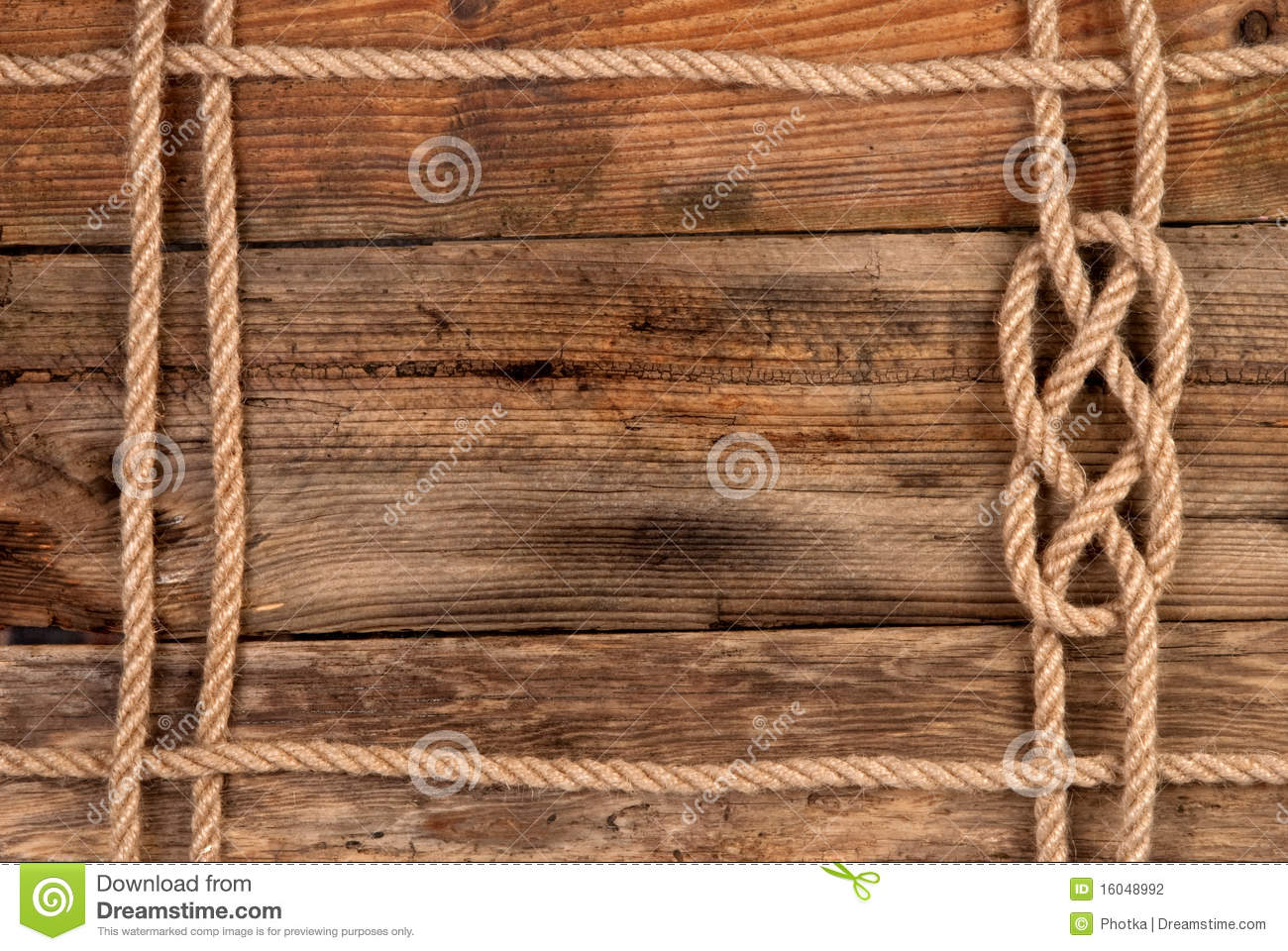 Rope frame stock photography image 16048992 Rope photo frame