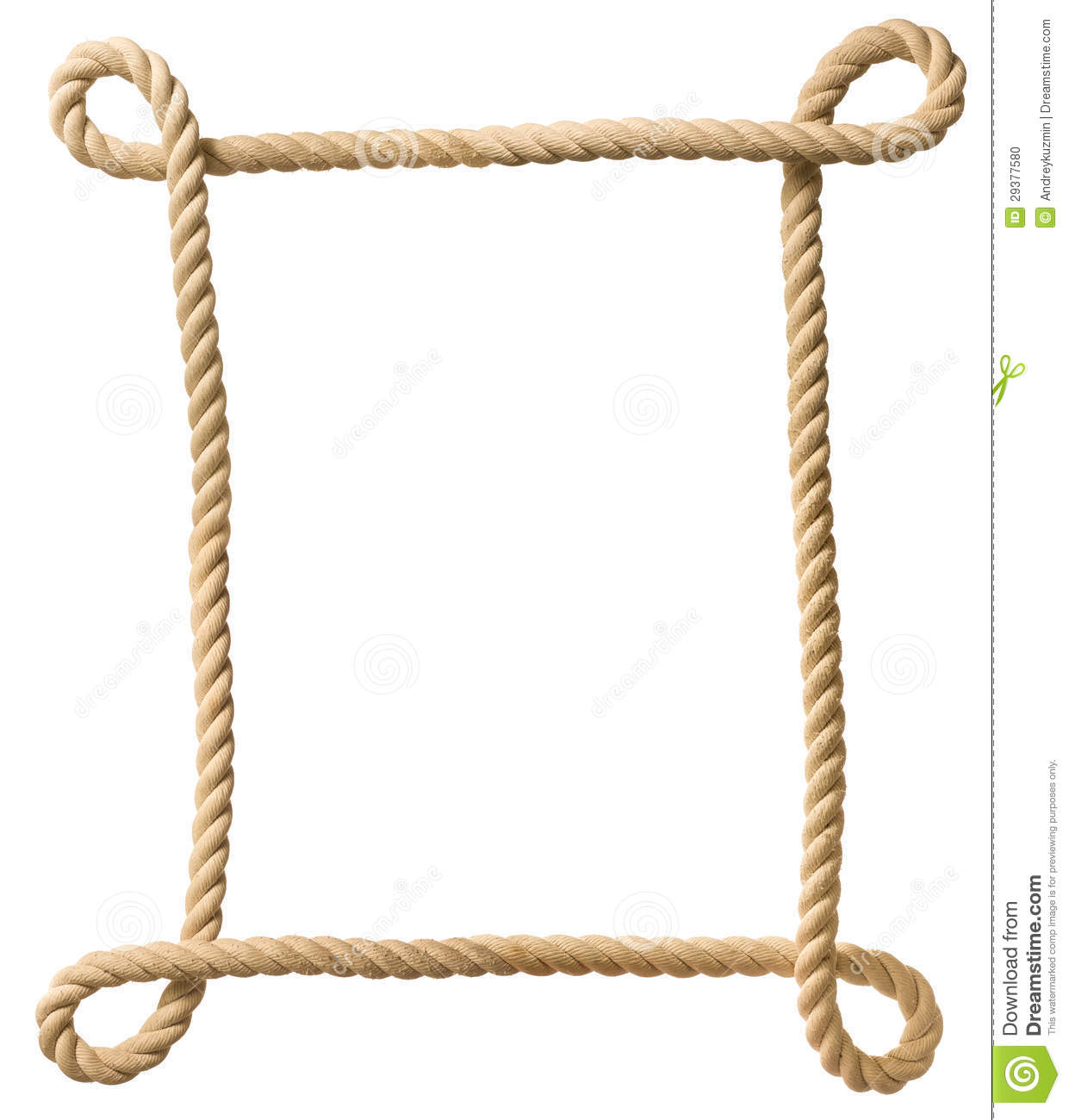 Rope Frame Stock Photo - Image: 29377580