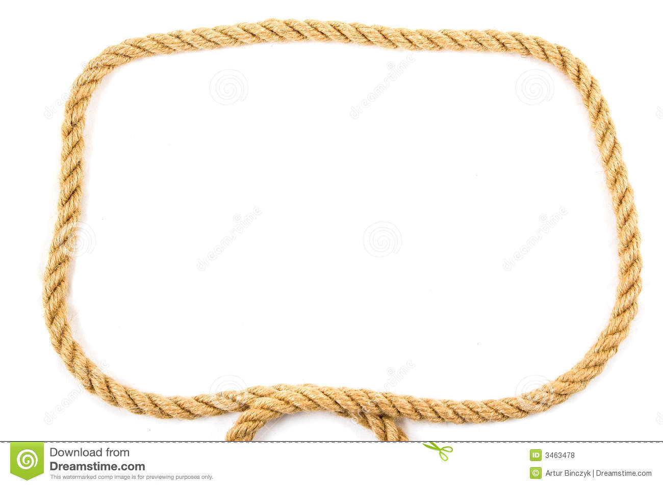 Rope Frame Royalty Free Stock Photos Image 3463478: rope photo frame
