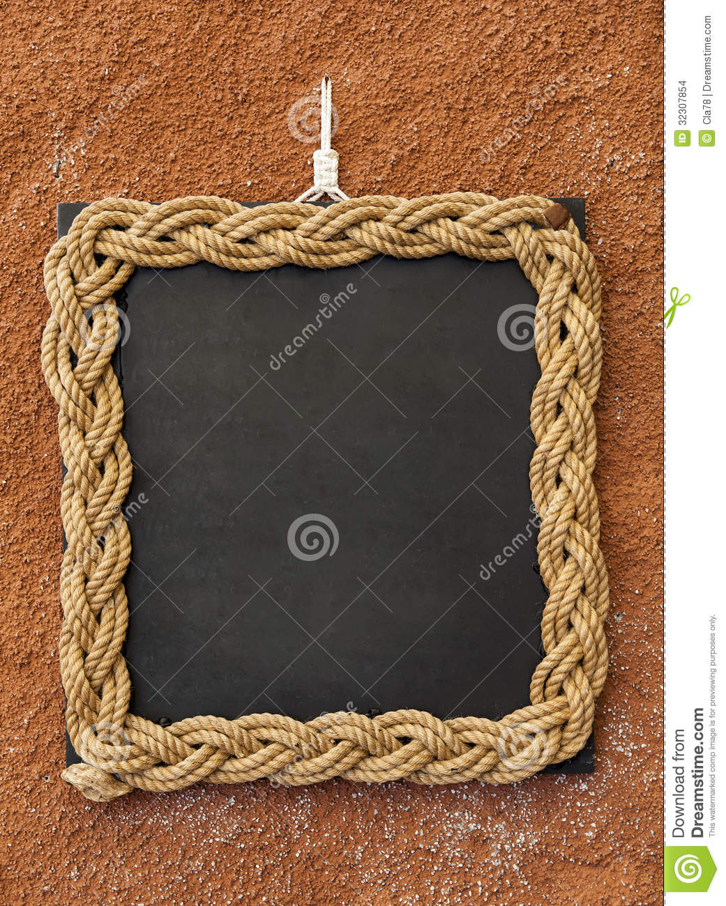 Rope frame stock images image 32307854 Rope photo frame
