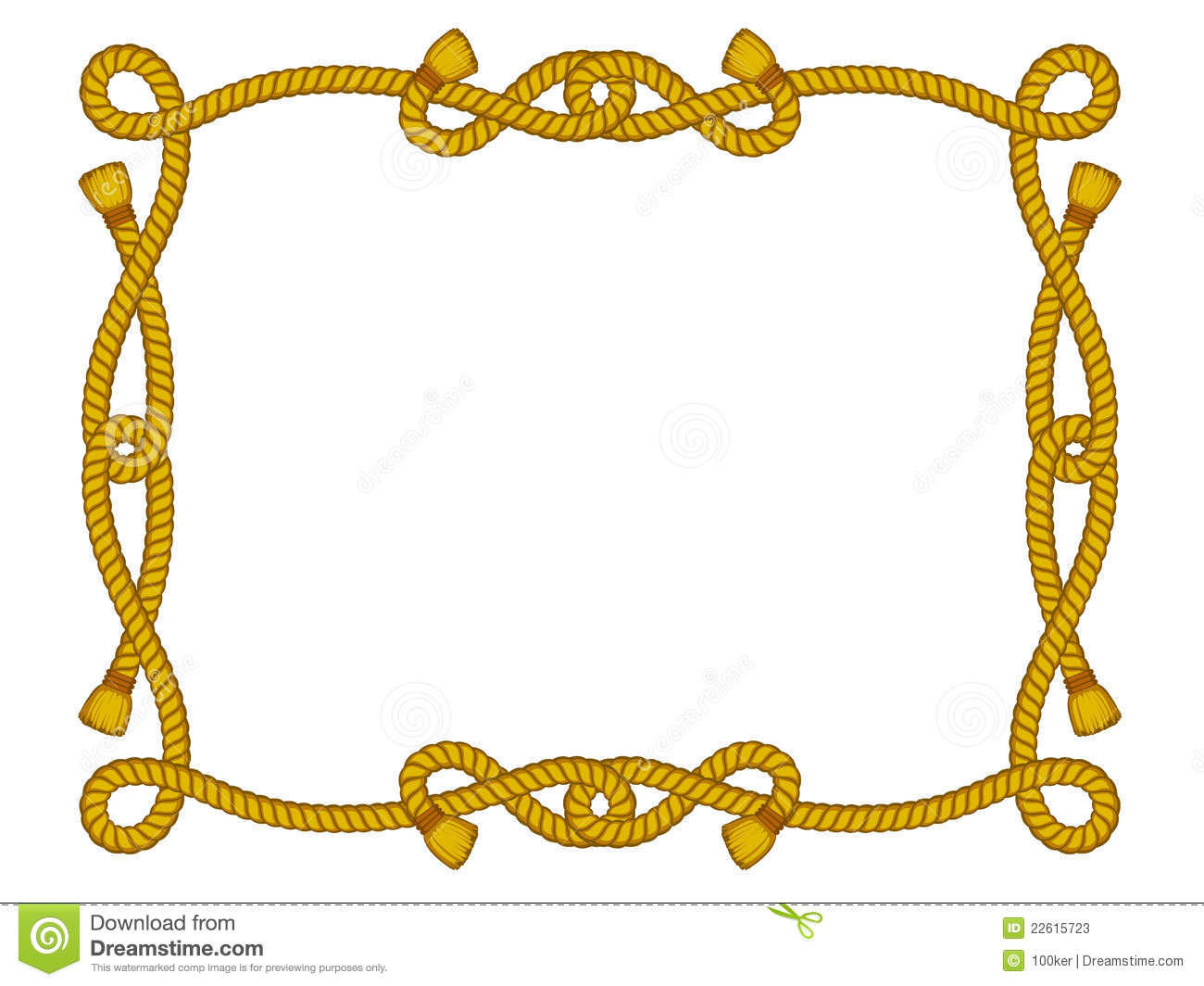 Rope Frame Isolated On White Stock Vector Image 22615723