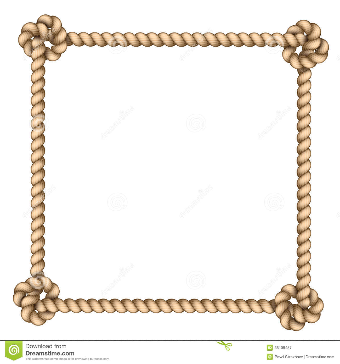 Rope Frame Royalty Free Stock Photography Image 36109457