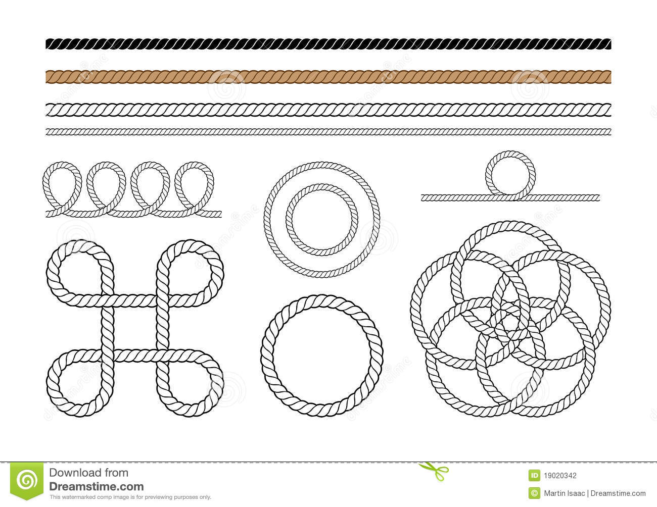 Rope Graphic Elements Stock Vector Illustration Of