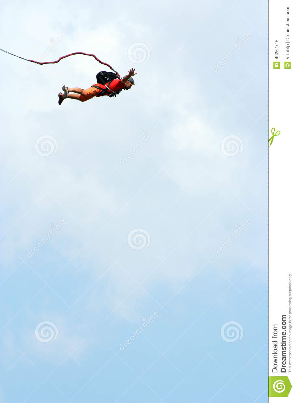 Rope jumping.Bungee jumping.
