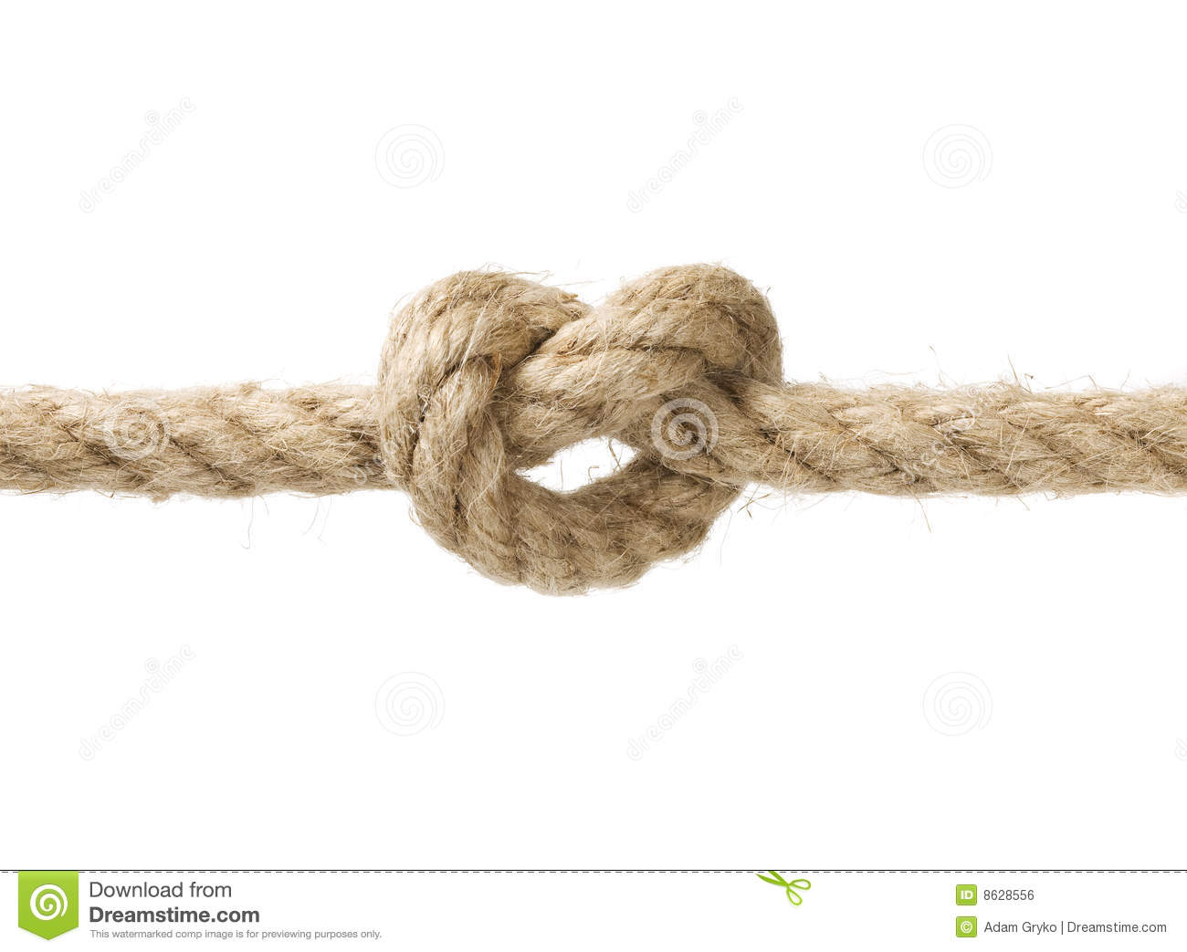 Rope with knot
