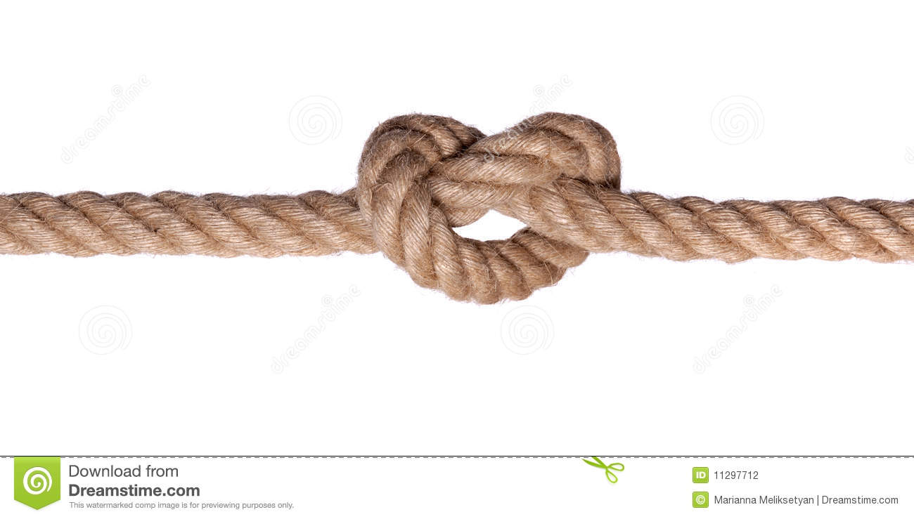Rope knot such a heart isolated stock photography image for Rope designs and more