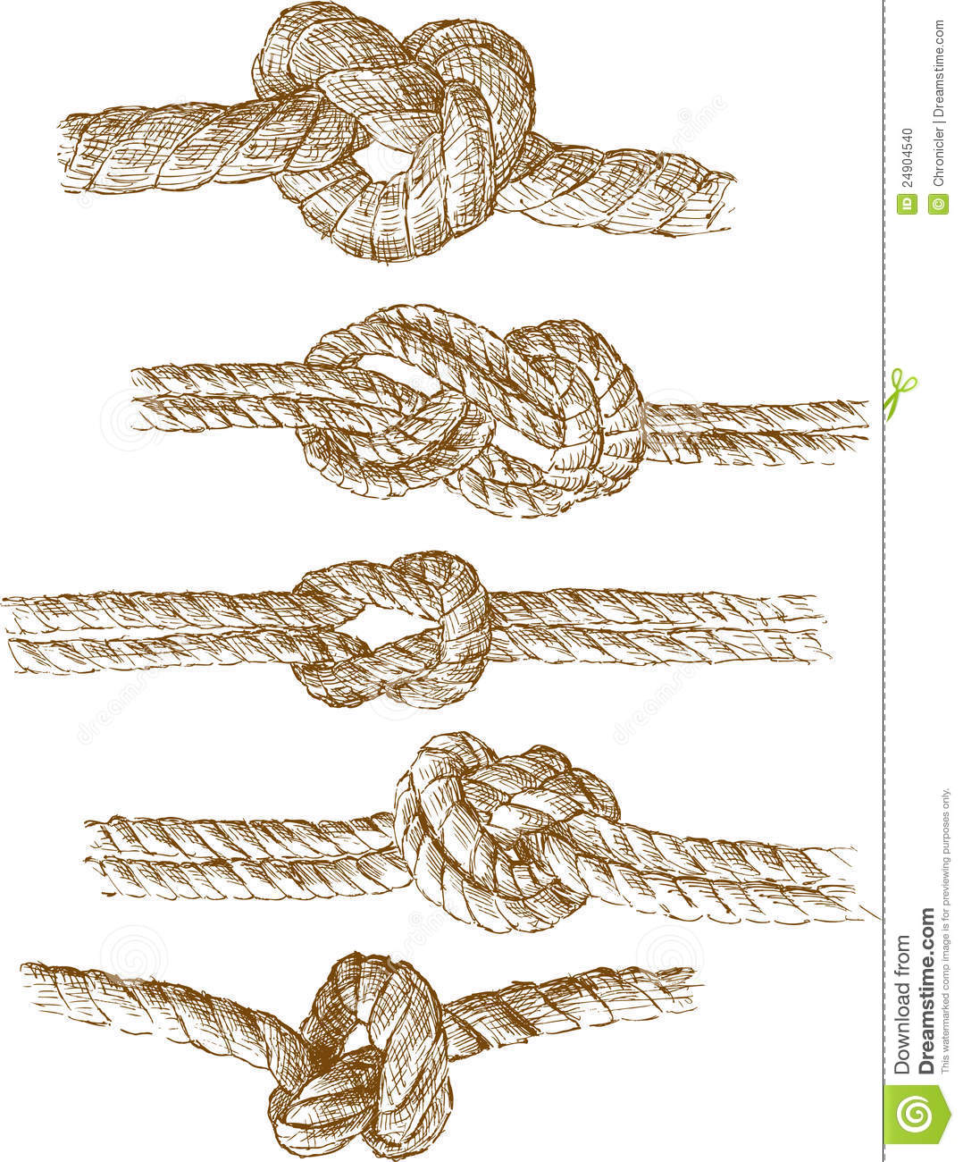Rope Knots Stock Photo Image 24904540