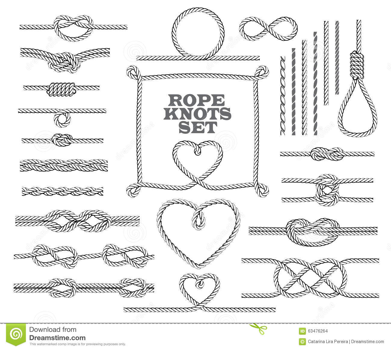 heart shape rope knots set vector illustration Cancer Ribbon Vector Art Cancer Ribbon Silhouette