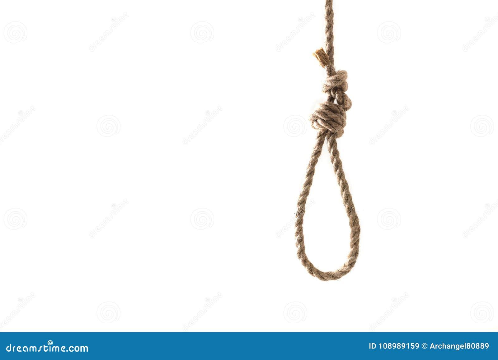 Rope la boucle pour accrocher d isolement sur le fond blanc