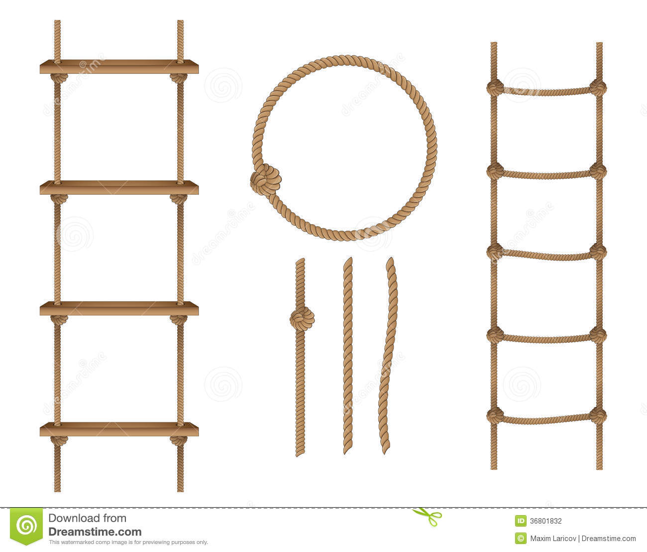 Rope Ladder Clipart - ...
