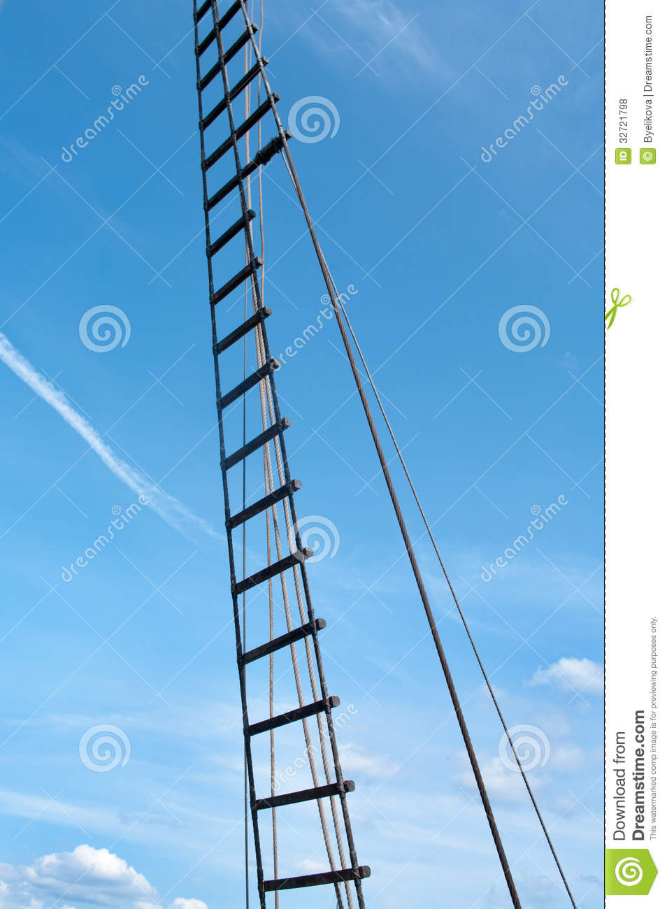 Rope ladder of the ship stock photo. Image of navy, tall - 32721798 for Rope Ladder Ship  110yll