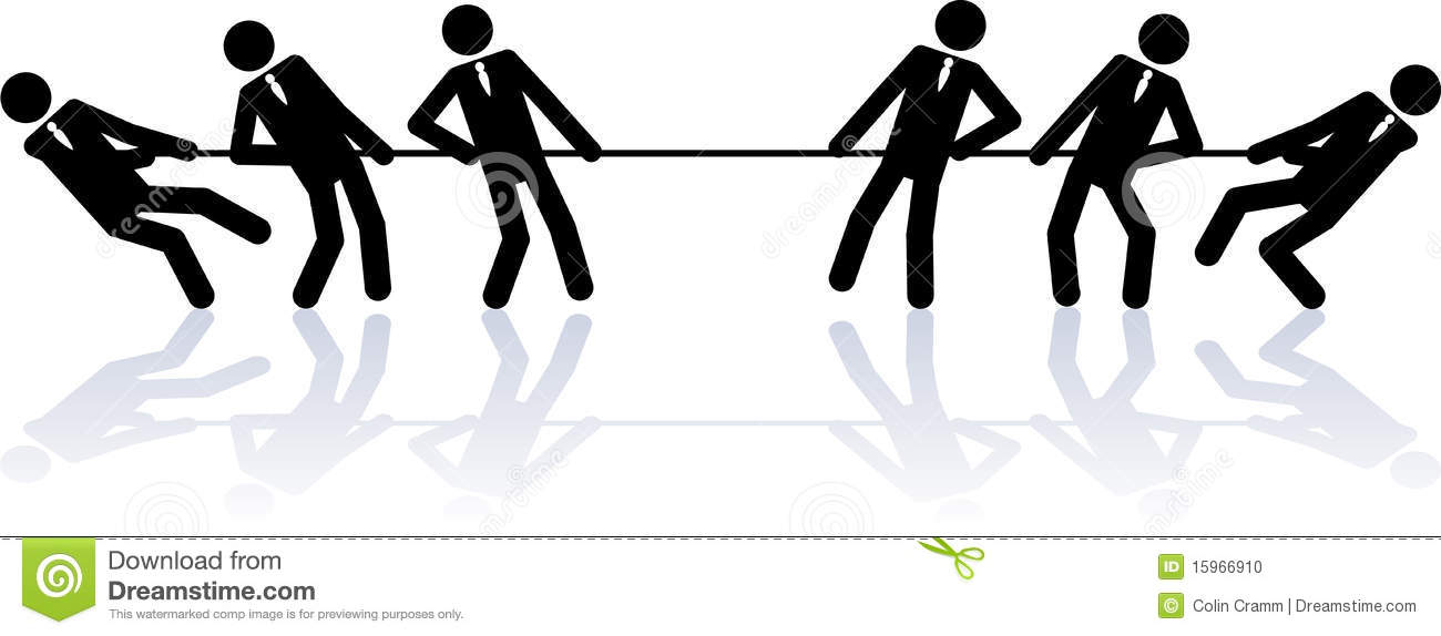 Rope Pulling Business People Stock Photo Image 15966910