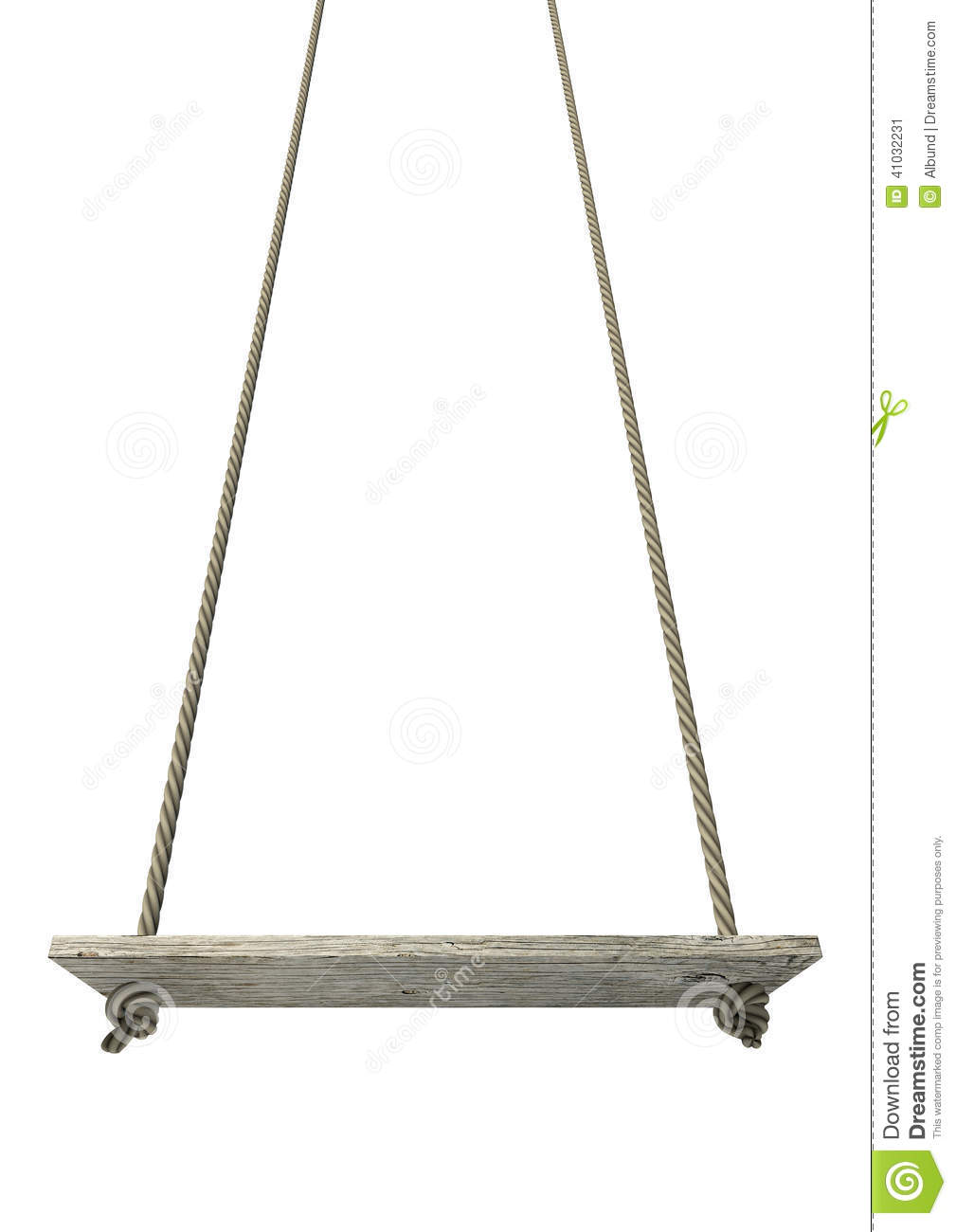 Rope swing isolated stock image image of chair isolated for Rope swing plans
