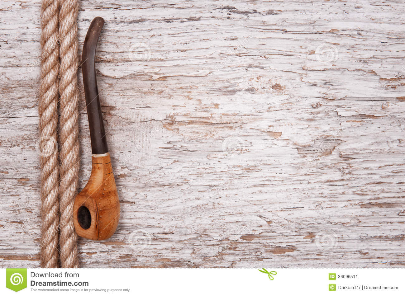 Rope and tobacco pipe