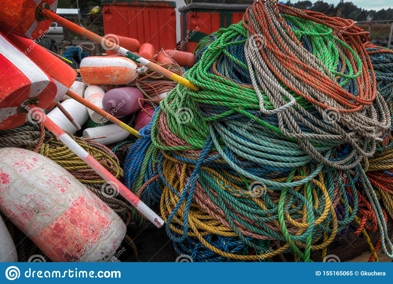 Ropes and Buoys Close Up