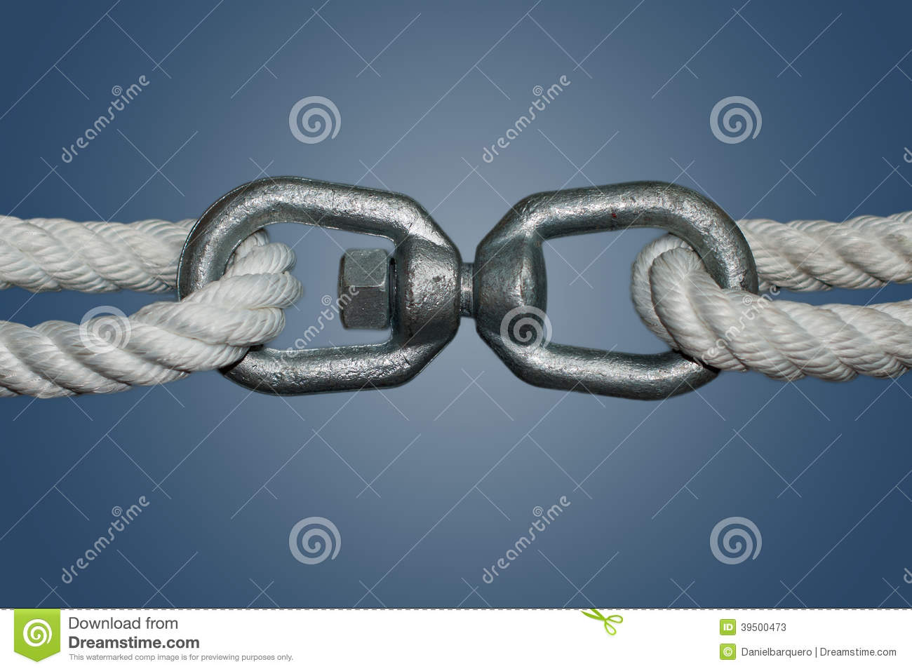Ropes with double eye swivel