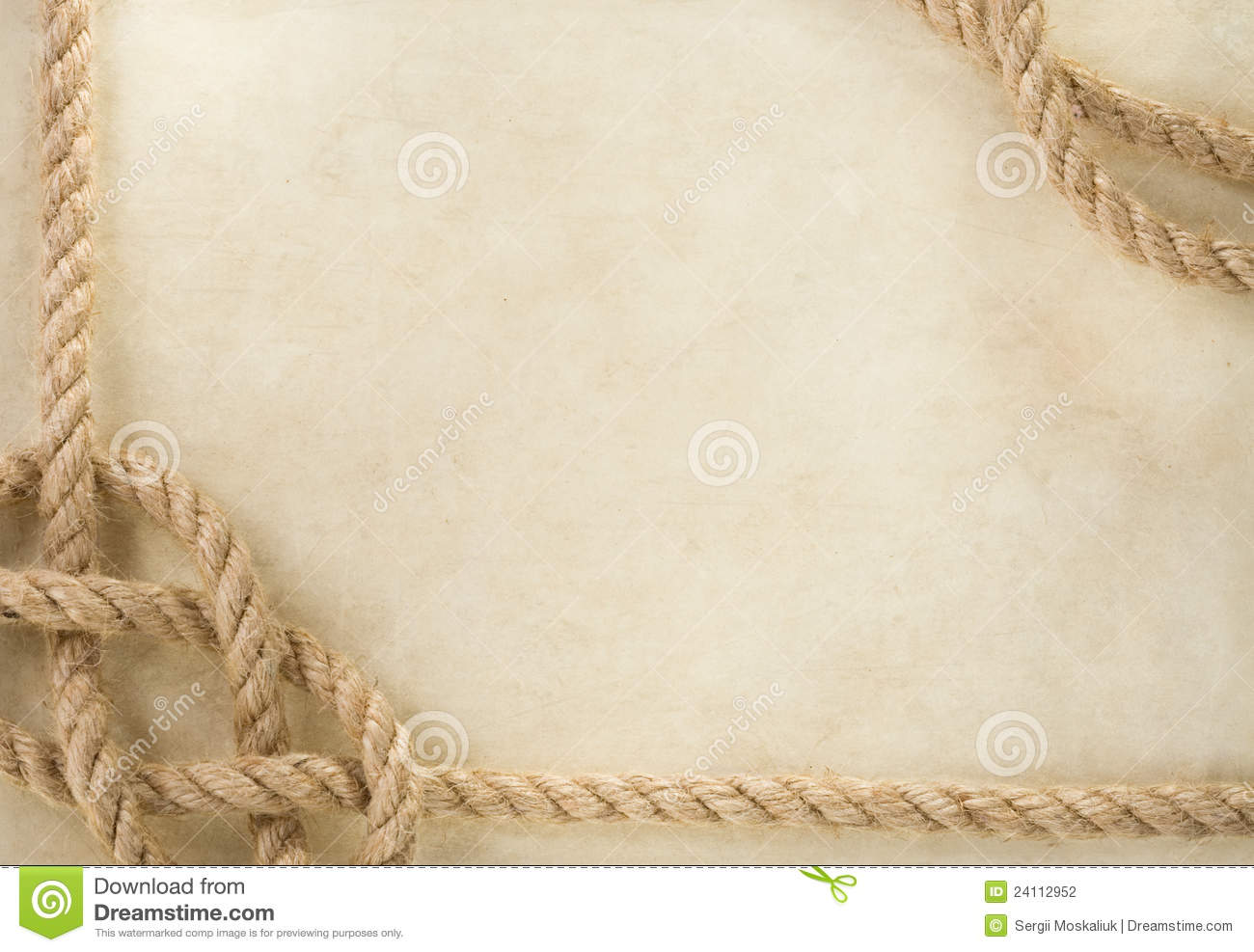 Ropes At Old Vintage Ancient Paper Background Stock Photo ...