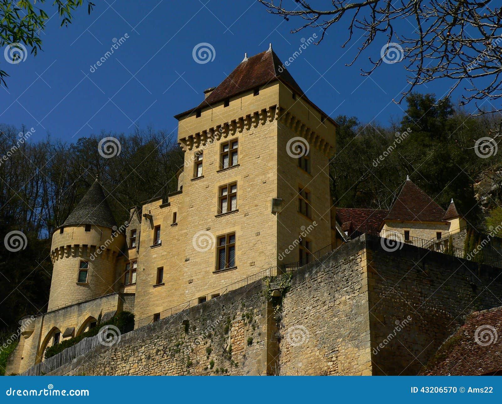 Download Roque För Malartrie För La För Gageac För Chateaude France Arkivfoto - Bild av befästning, liggande: 43206570