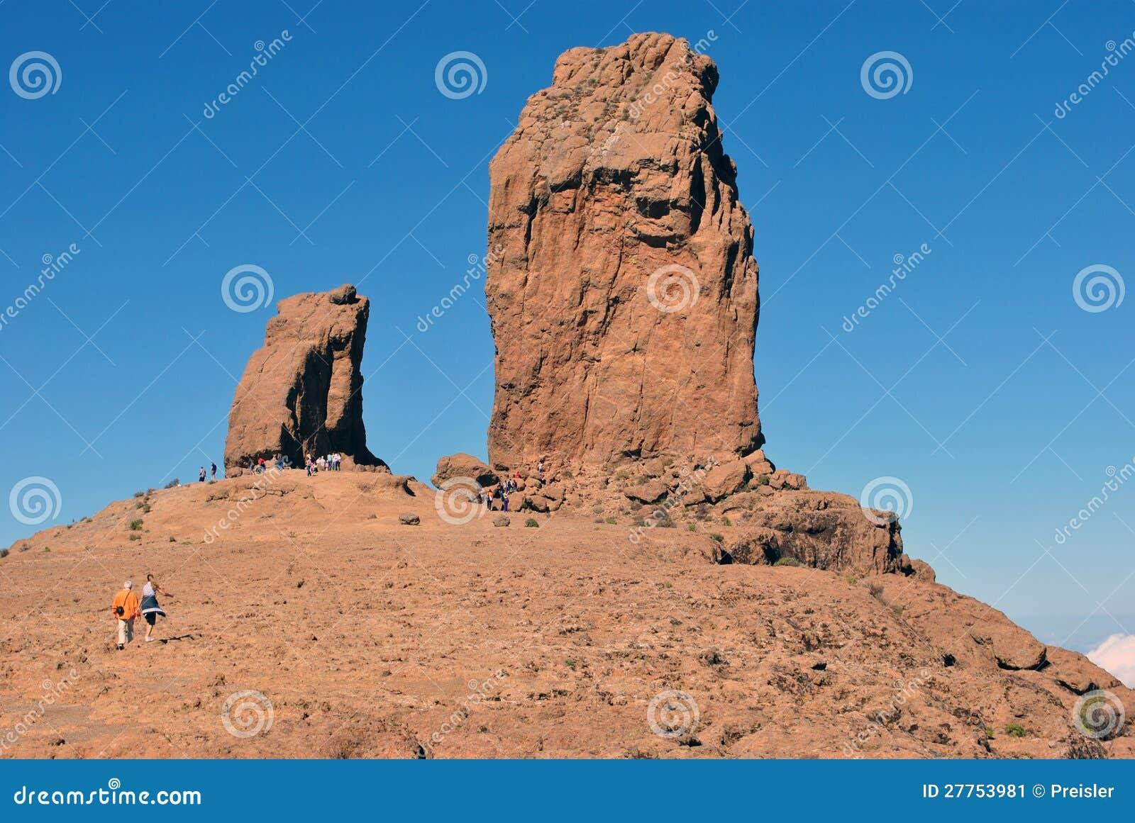 Roque Nublo (roche opacifiée) - Gran Canaria