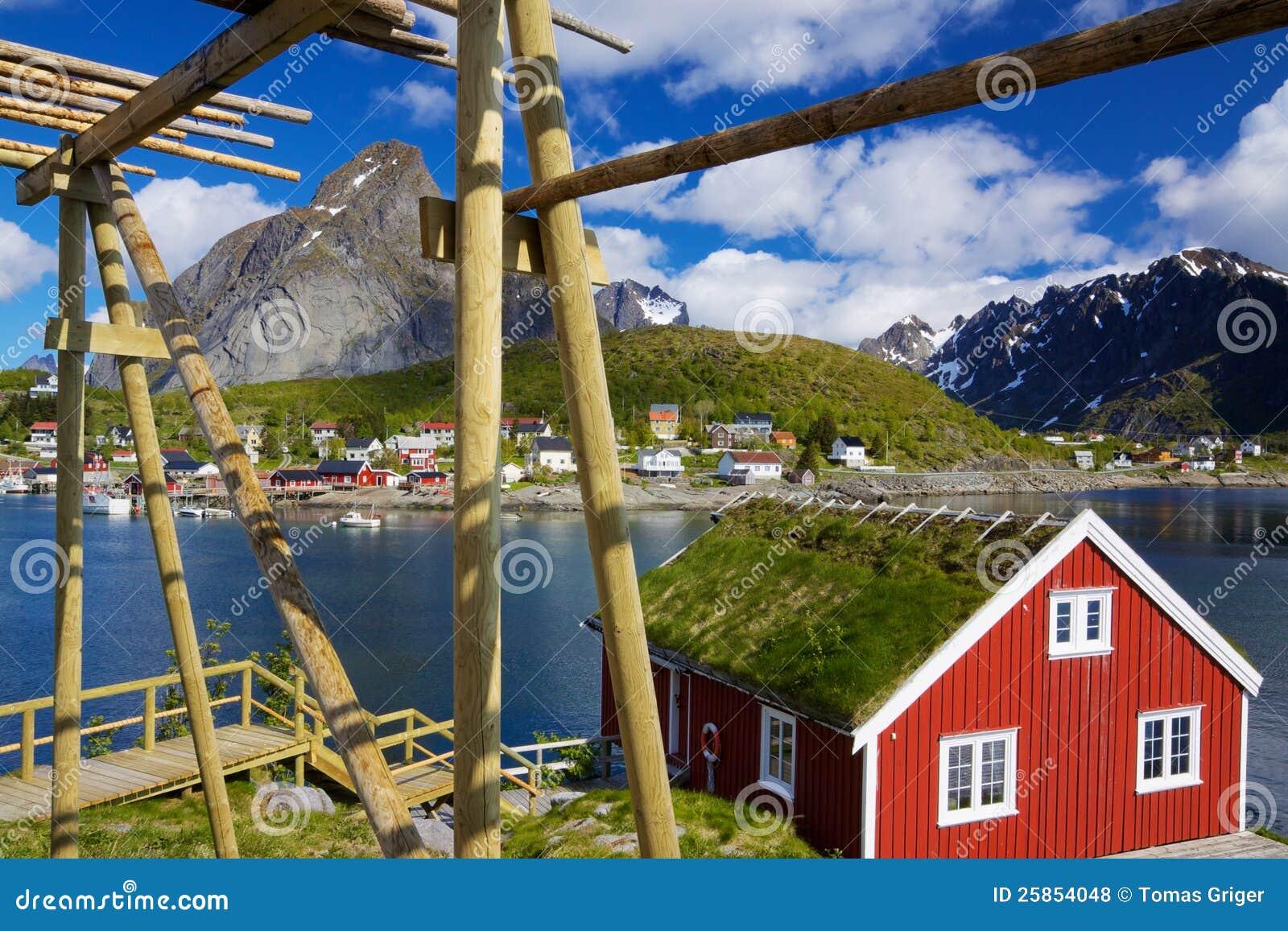 Rorbuer на Lofoten в Норвегии