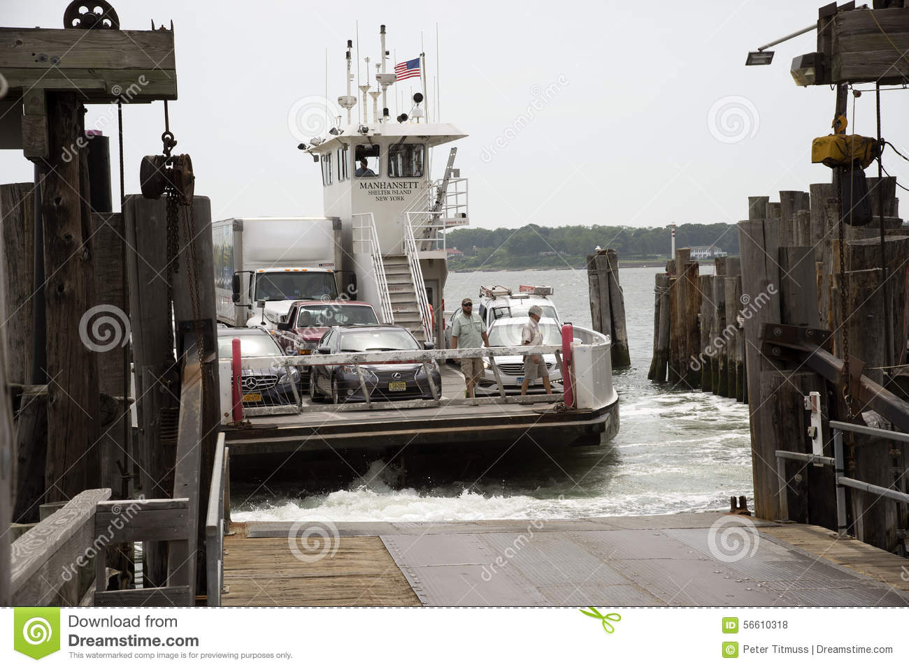 RORO Ferry At Greenport Long Island USA Editorial Stock Photo