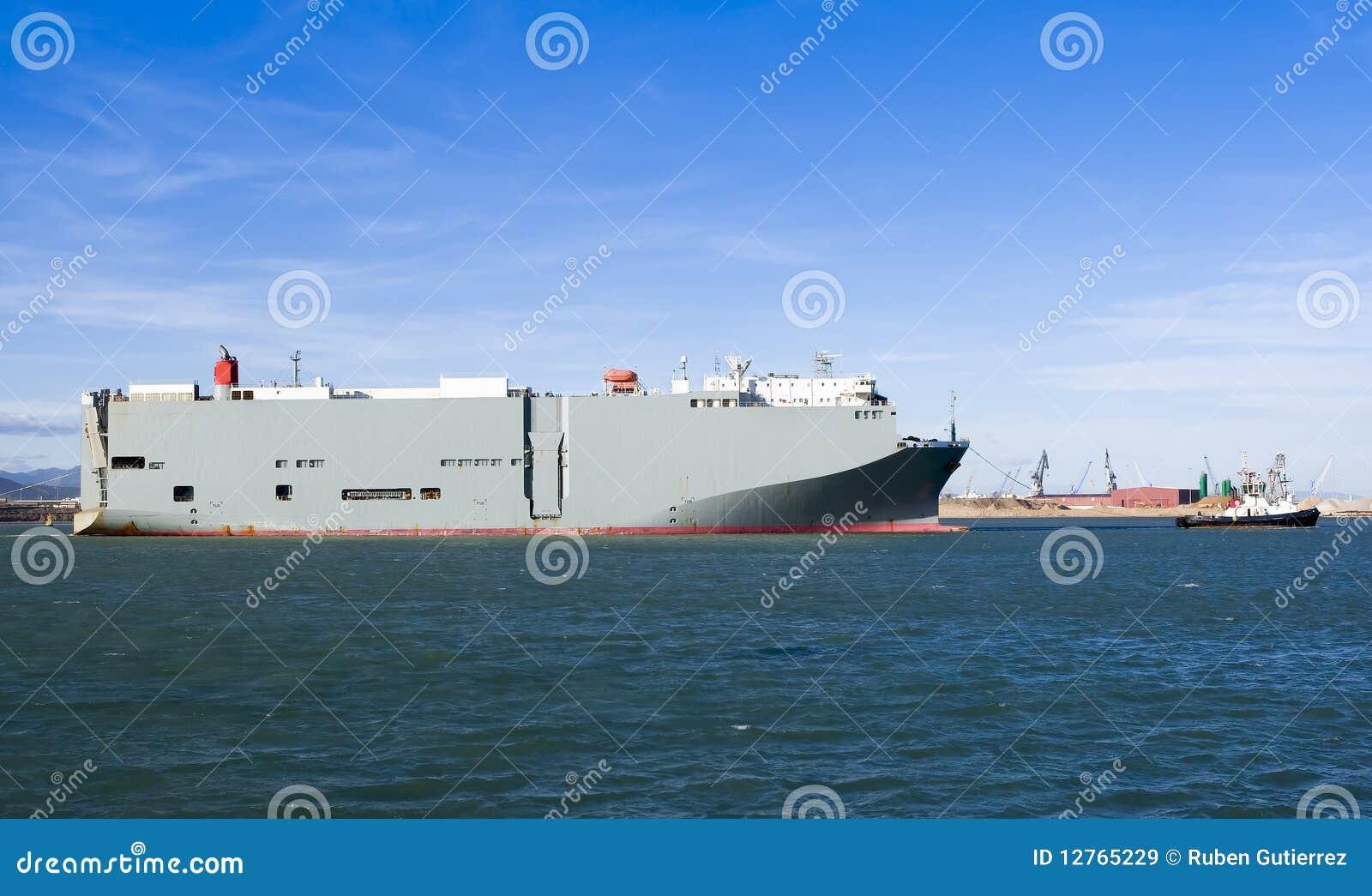 Roro vessel stock image  Image of port, ship, vessel - 12765229